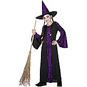 Child Bewitched Witch Costume Purple Medium