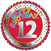 18' 12th Birthday Foil (each)
