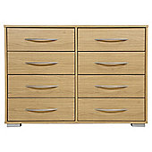 Newport 8 Drawer Chest Oak