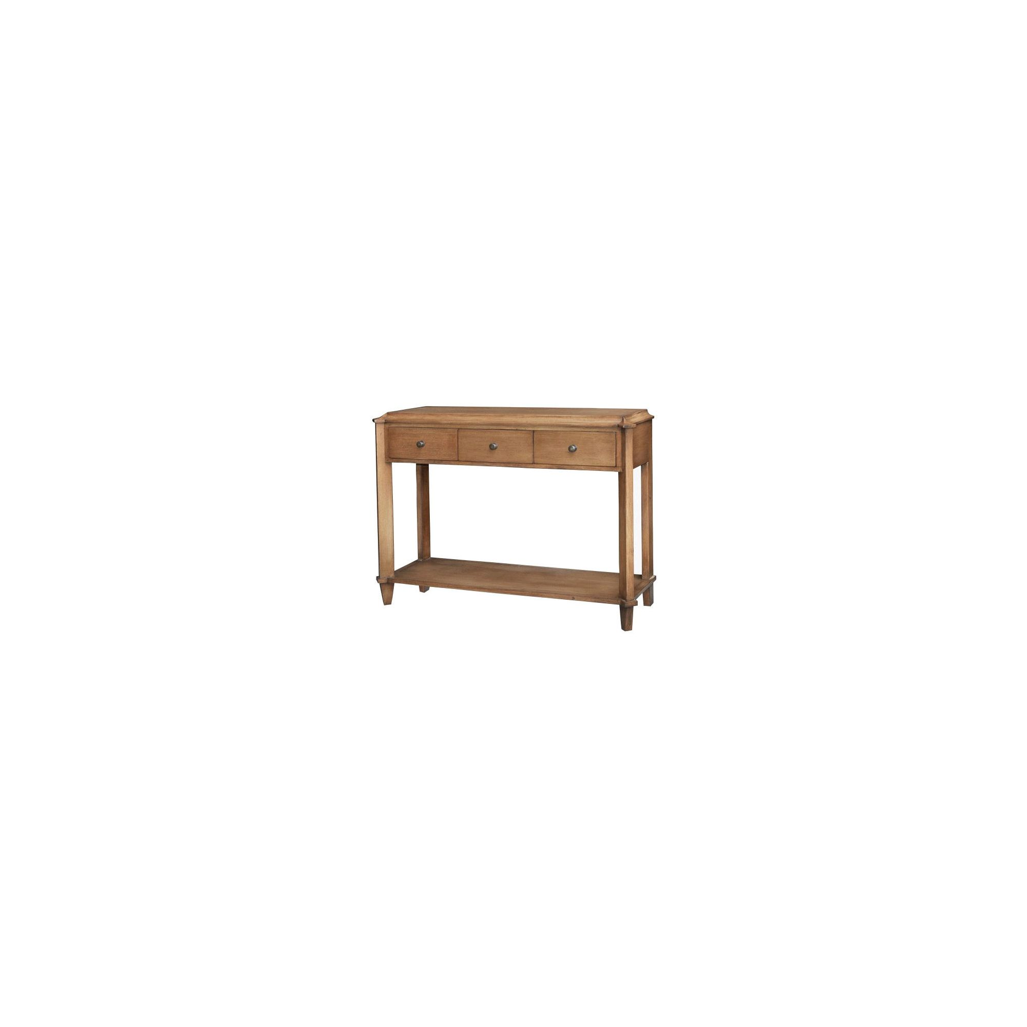 Lock stock and barrel Shell Knowle Console Table in Mahogany at Tescos Direct