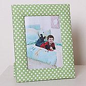 Green Dotty Children's Photo Frame