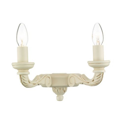 Buy Dar Lighting Tudor Double Candle Wall Light - Cream from our Single Wall Lights range - Tesco