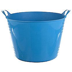 15L Plastic Flexi Tub with Handles - Blue
