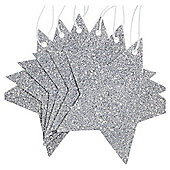 Silver Star Christmas Gift Tags, 6 pack