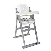 Tiny Tatty Teddy Highchair White and Grey