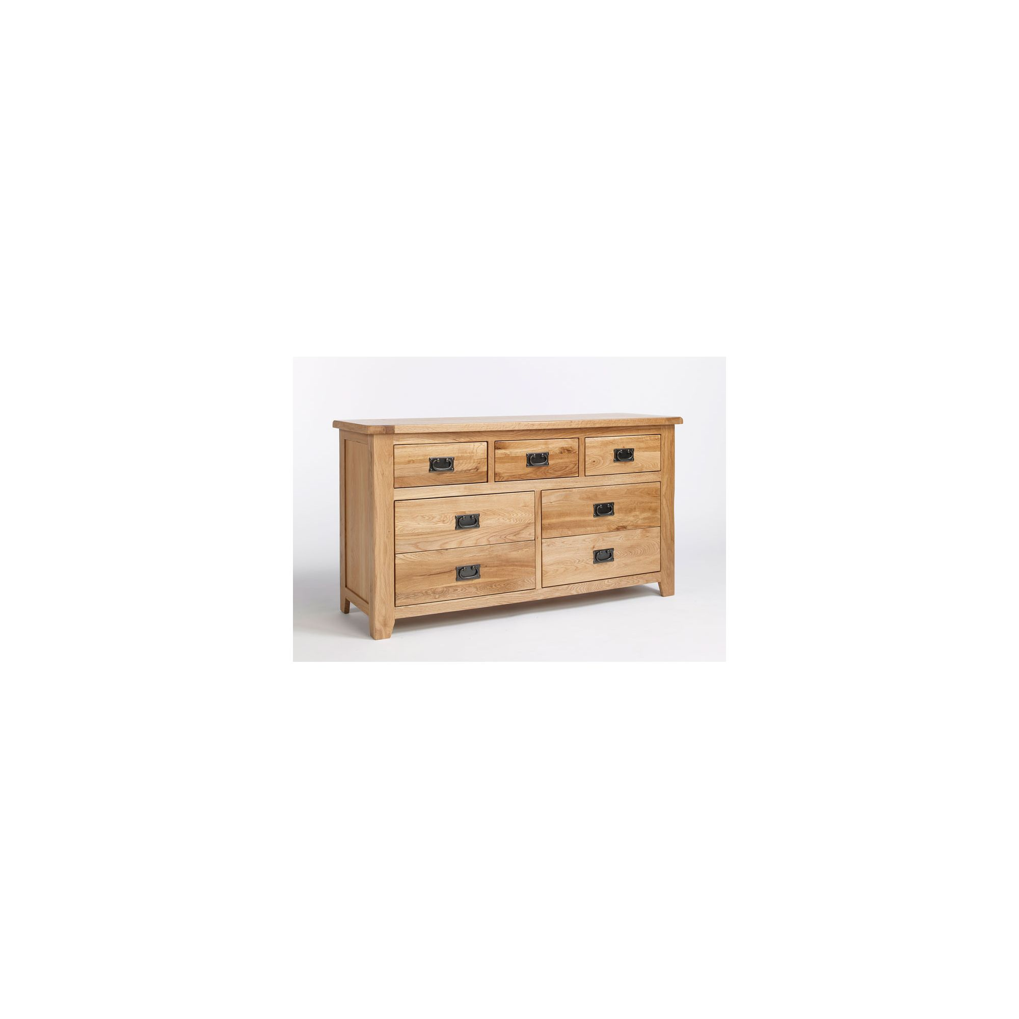 Ametis Westbury Reclaimed Oak 3 Over 4 Drawer Wide Chest at Tescos Direct