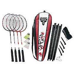 Attacker 4 player badminton set