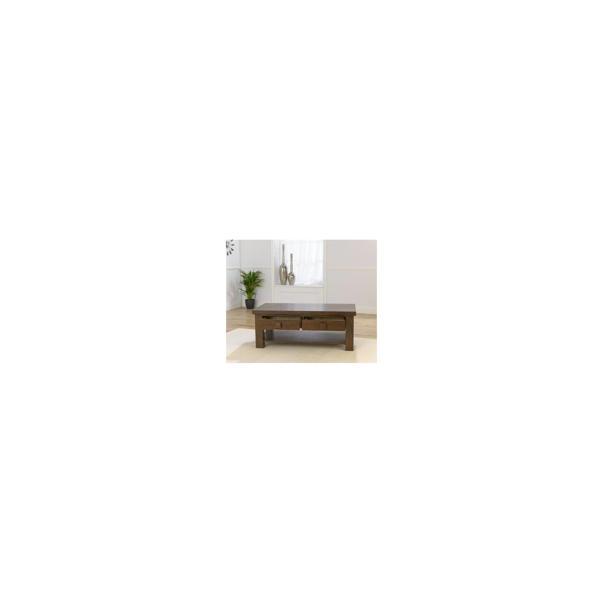 Mark Harris Furniture Barcelona Oak Coffee Table - Dark Oak at Tesco Direct
