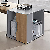 Teknik Office Perfect High Storage Unit Desk in Warm Cherry