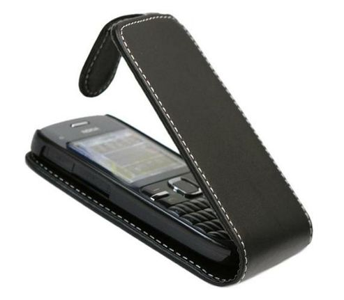 iTALKonline FlipMatic Easy Clip On Vertical Pouch Case Black - For Nokia C3