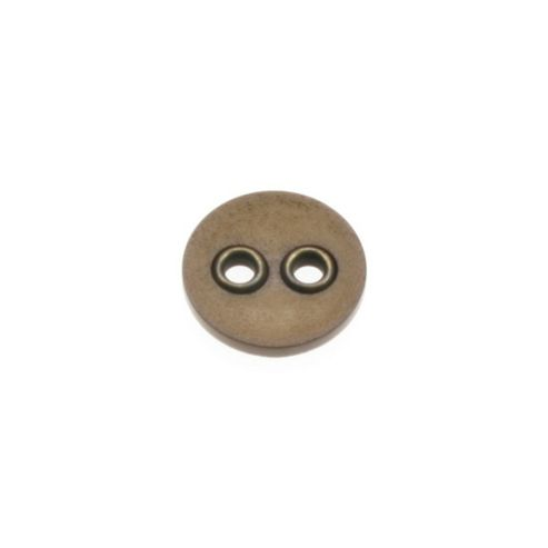 Dill Buttons 23mm 2 Metal Hole Brown