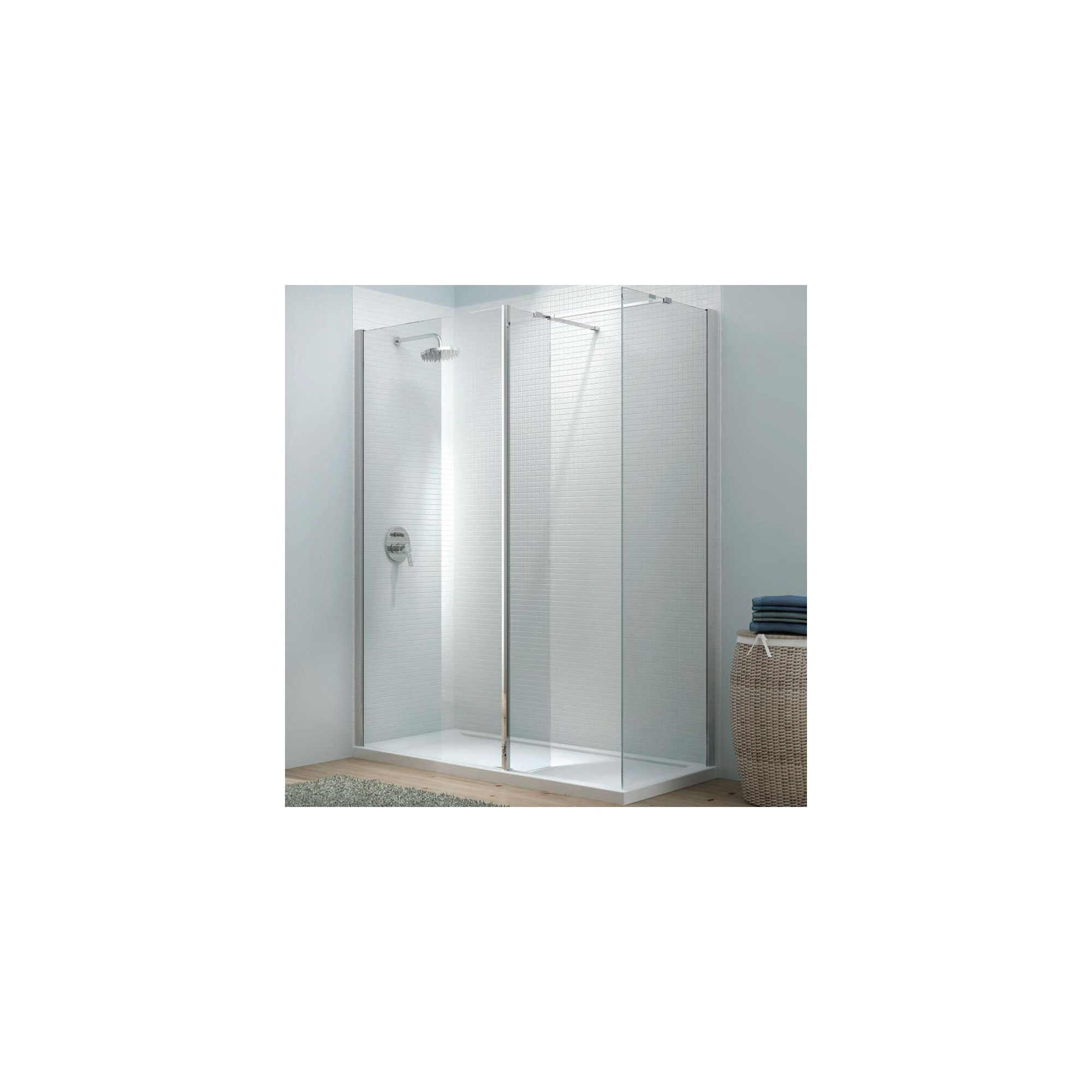 Merlyn Vivid Eight Cube Corner Walk-In Shower Enclosure, 1600mm x 800mm, Low Profile Tray, 8mm Glass at Tesco Direct