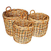Wicker Valley Large Rattan Storage Basket (Set of 3)
