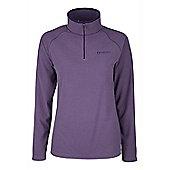Waffle Womens Antipill Anti Bobble Warm Walking Hiking Mid Layer Micro Fleece - Purple
