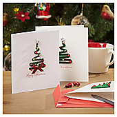 Tinsel Tree Luxury Christmas Cards, 6 pack