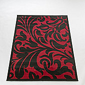 Home Essence Element Warwick Red / Black Contemporary Rug - 220cm x 160cm (7 ft 2.5 in x 5 ft 3 in)