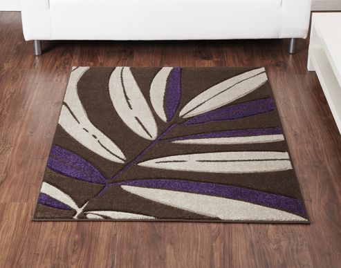 Ultimate Rug Co Rapello Tropical Chocolate / Aubergine Contemporary Rug - 120cm x 165cm