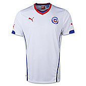 2014-15 Chile Away World Cup Football Shirt - White