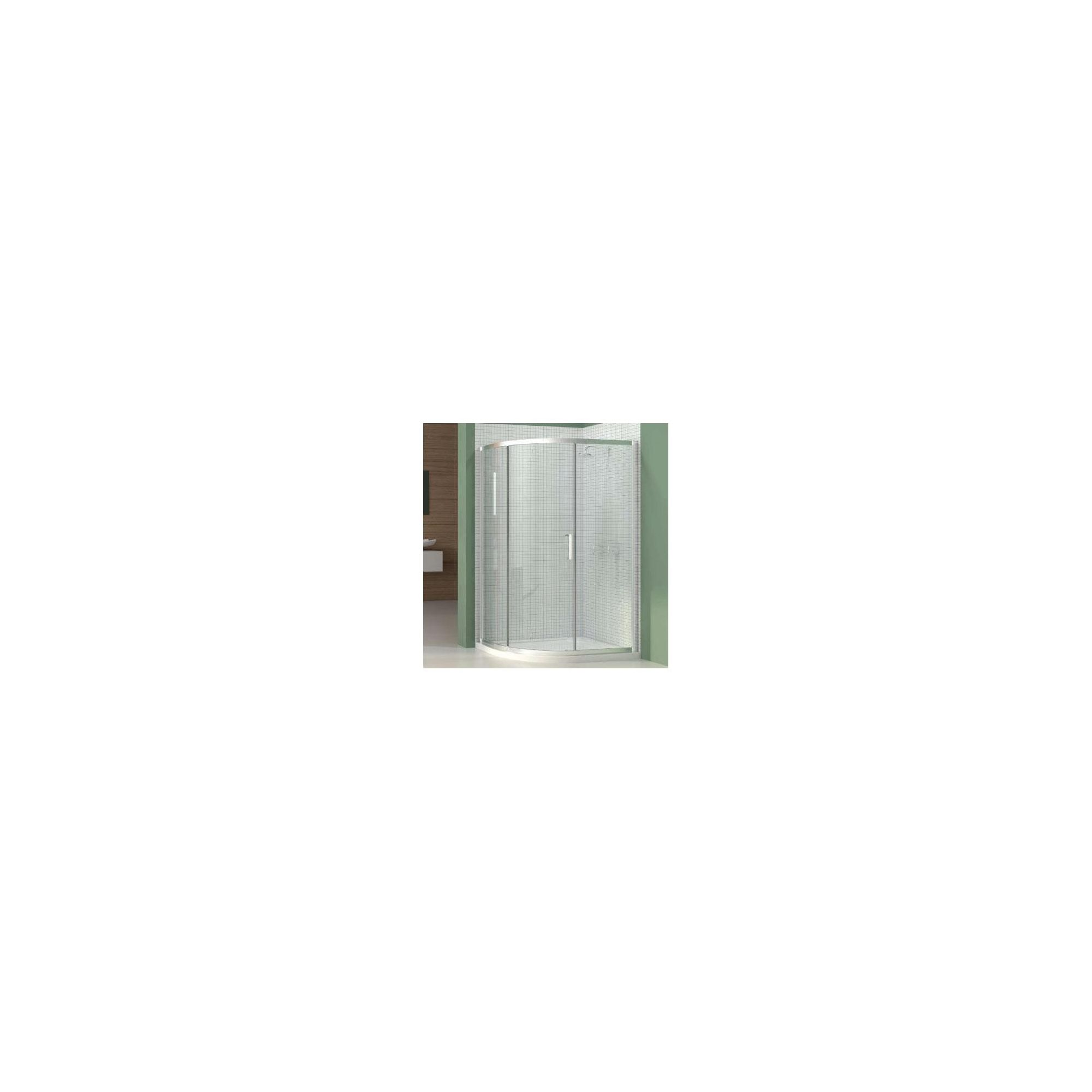 Merlyn Vivid Six Offset Quadrant Shower Enclosure, 1200mm x 800mm, Left Handed, Low Profile Tray, 6mm Glass at Tesco Direct