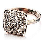 Shimla Ladies Rose Gold Square Ring - SH-233ML