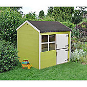 4ft x 4ft Plum Wooden Playhouse 4 x 4