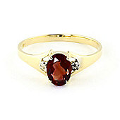 QP Jewellers Diamond & Garnet Oval Desire Ring in 14K Gold