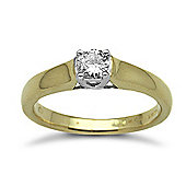 Jewelco London 18 Carat Yellow Gold 25pts Solitaire Diamond Ring