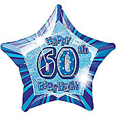 60th 20' Star Foil Balloon (each)