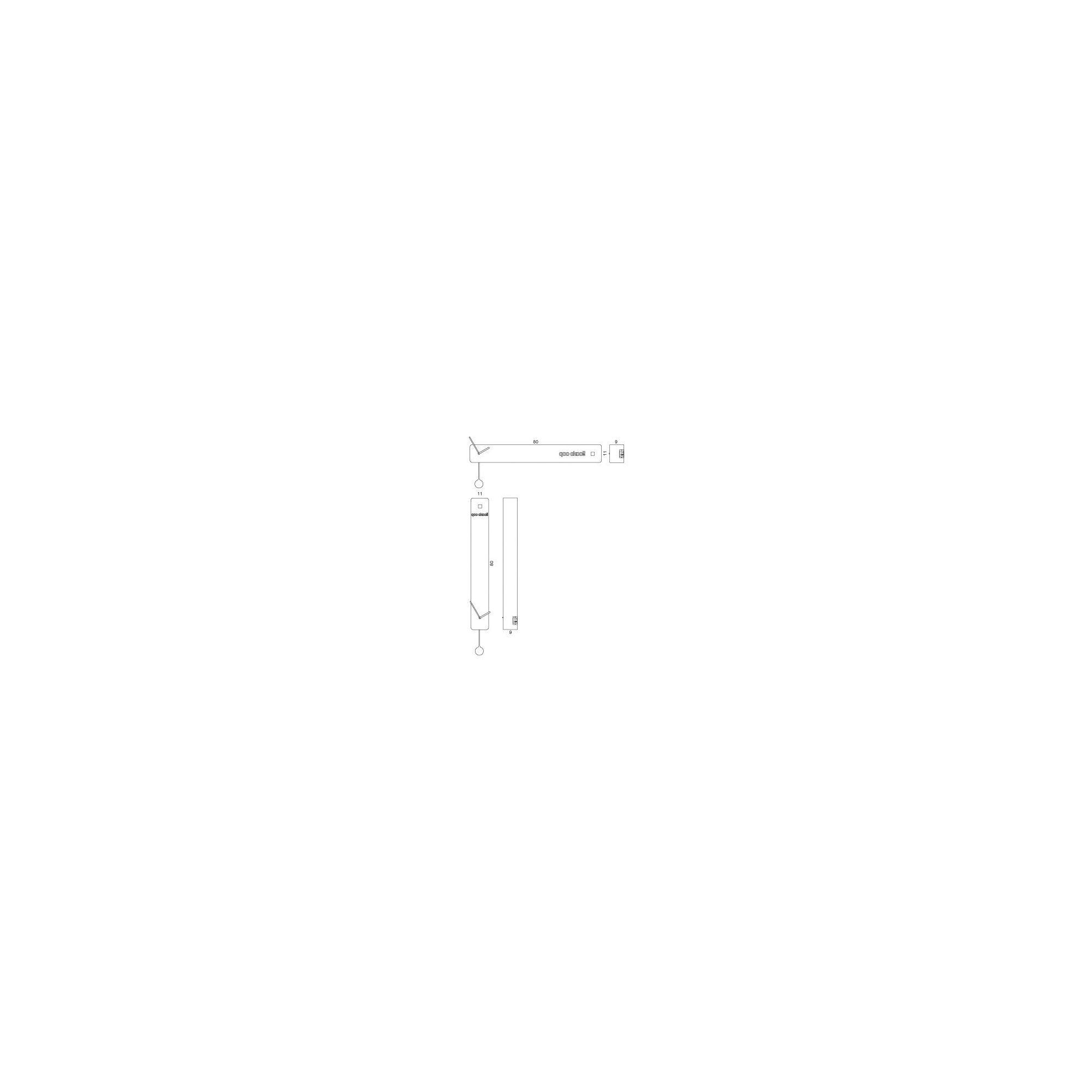 Progetti q02 Vertical Wall Clock - Black at Tesco Direct