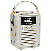 View Quest Retro Mini DAB/DAB+/FM Radio and Bluetooth Speaker Emma Bridgewater Polka Dot