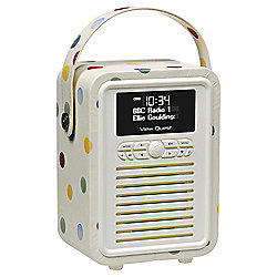 View Quest Retro Mini DAB/DAB+/FM Radio and Bluetooth Speaker Emma Bridgewater Polka Dot