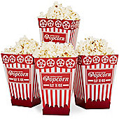 Andrew James Pack of 12 Cinema Style Popcorn Boxes Red and White