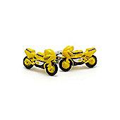 Yellow Moto GP Style Racing Bike Cufflinks