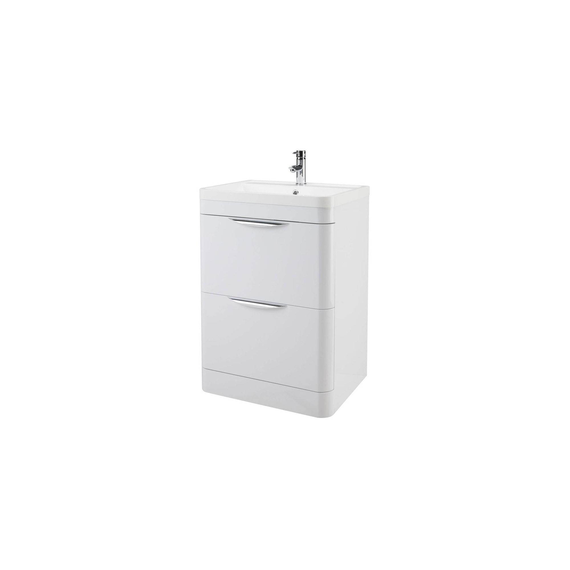 Premier Parade 600 Floor Standing 2 Drawer Basin and Cabinet