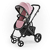 Tutti Bambini Riviera Plus Black Pushchair - Dusty Pink / Cool Grey