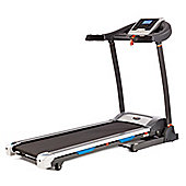 V-fit PT142 PROGRAMMABLE POWER INCLINE FOLDING TREADMILL - (14km/h - Hand Pulse - Backlit Display - 12% Powered Incline)