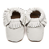 Olea London Moccasins Baby Shoes White - White