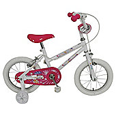 "Sparkle & Glitz Daisy 14"" Kids' Bike with Stabilisers"