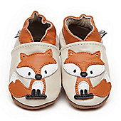 Olea London Soft Leather Baby Shoes Fox - Cream