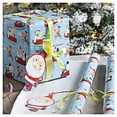 Chilly Santa Christmas Wrapping Paper, 10m
