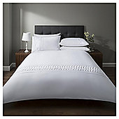 Cotton Rich Pintuck Duvet Set - White