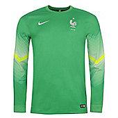 2014-15 France Home World Cup Goalkeeper Shirt (Green) - Green