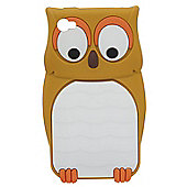 Tortoise™ Look Soft Case iPhone 4/4S Owl Brown