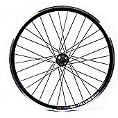 26 x 1.75 black double wall 8/9 speed cassette disc Q/R Rear