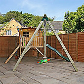 13 x 12 Apex Tower Playhouse With Slide & Activity Set