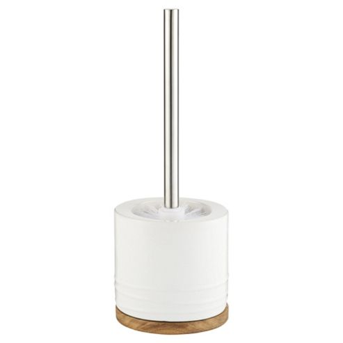 buy tesco wood ceramic toilet brush and holder from our. Black Bedroom Furniture Sets. Home Design Ideas