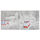 Tesco Choir Boy Christmas Cards, 12 Pack