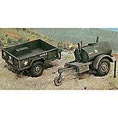 250 gal.s Tank Trailer - M101 Cargo Trailer 1:35 - Italeri
