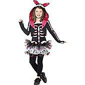 Child Skeleton Rabbit Costume Medium