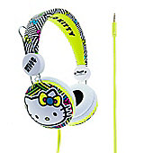 HELLO KITTY YELLOW NEON HEADPHONES